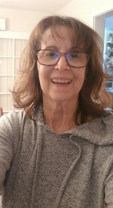 aunt sharon, woman smiling at camera